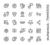 vector set icon of social... | Shutterstock .eps vector #754455553