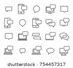 simple set of message related... | Shutterstock .eps vector #754457317