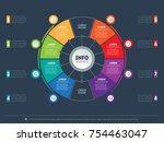 business presentation concept... | Shutterstock .eps vector #754463047