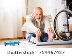 unrecognizable health visitor... | Shutterstock . vector #754467427