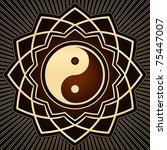 gold yin yang symbol   Shutterstock .eps vector #75447007