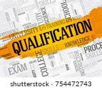 qualification word cloud ...   Shutterstock .eps vector #754472743