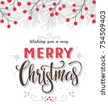 christmas background with fir... | Shutterstock .eps vector #754509403