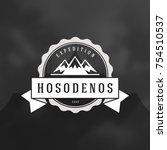 mountains logo emblem vector...   Shutterstock .eps vector #754510537