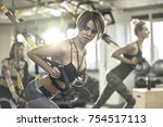 group of girls is training with