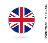 uk flag icon isolated on white... | Shutterstock . vector #754518583