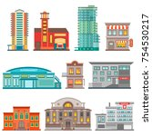 isolated city buildings icon... | Shutterstock .eps vector #754530217