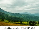 mountain view in nature | Shutterstock . vector #754536583