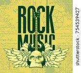 vector banner with words rock...   Shutterstock .eps vector #754539427