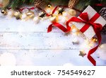 christmas holidays composition... | Shutterstock . vector #754549627