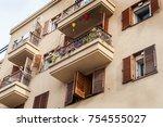 modern balconies at home | Shutterstock . vector #754555027