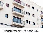 modern balconies at home | Shutterstock . vector #754555033