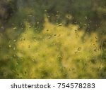 autumn rainy day behind window | Shutterstock . vector #754578283