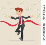 cartoon character  businessman... | Shutterstock .eps vector #754595113