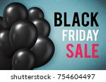 black friday sale poster with... | Shutterstock .eps vector #754604497