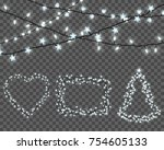 big set of realistic color... | Shutterstock .eps vector #754605133