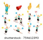 cheerleading competition sport... | Shutterstock .eps vector #754612393