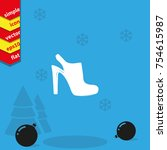 high heeled sandal icon. casual ...   Shutterstock .eps vector #754615987