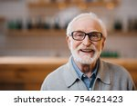 close up portrait of happy... | Shutterstock . vector #754621423
