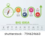 direction to success. template... | Shutterstock .eps vector #754624663