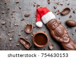 delicious festive christmas... | Shutterstock . vector #754630153