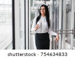 successful confident young... | Shutterstock . vector #754634833