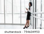 successful confident young... | Shutterstock . vector #754634953