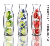 hydrating detox water drinks... | Shutterstock .eps vector #754635613