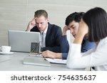 business people working... | Shutterstock . vector #754635637