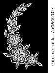 beautiful monochrome black and... | Shutterstock . vector #754640107