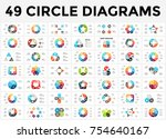 vector circle arrows... | Shutterstock .eps vector #754640167