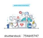 monitoring heartbeat. service ...   Shutterstock .eps vector #754645747