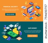 financial security and safe... | Shutterstock .eps vector #754650757