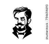 barbershop haircut gentleman... | Shutterstock .eps vector #754654693