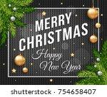 merry christmas poster banner...   Shutterstock .eps vector #754658407