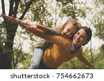 mom and daughter have fun... | Shutterstock . vector #754662673
