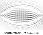 abstract halftone wave dotted... | Shutterstock .eps vector #754663813