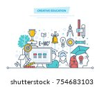creative education. training ... | Shutterstock .eps vector #754683103