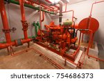 diesel generator for fire... | Shutterstock . vector #754686373