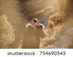 pretty and attractive girl... | Shutterstock . vector #754690543