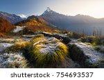 beautiful landscape of himalaya ...   Shutterstock . vector #754693537