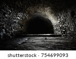 scary underground  old castle... | Shutterstock . vector #754699093