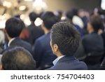 seminar training course image | Shutterstock . vector #754704403