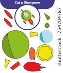 paper game for the development... | Shutterstock .eps vector #754704787