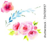 wildflower eustoma flower in a... | Shutterstock . vector #754705957