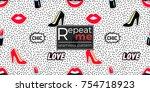 seamless pattern background...   Shutterstock .eps vector #754718923