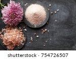 pink salt seasoning  | Shutterstock . vector #754726507