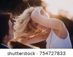 lovestory of  beautiful young... | Shutterstock . vector #754727833