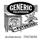 futurized television   retro ad ...