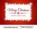 vector christmas card design ... | Shutterstock .eps vector #754743337